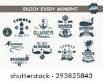 summer time retro style... | Shutterstock .eps vector #293825843