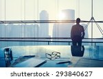 businessman thinking... | Shutterstock . vector #293840627