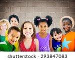 diversity children friendship...   Shutterstock . vector #293847083