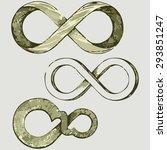 infinity symbol. shades of... | Shutterstock . vector #293851247