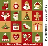 christmas design icons set.... | Shutterstock . vector #293860463