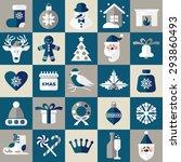 christmas illustration. vector... | Shutterstock . vector #293860493