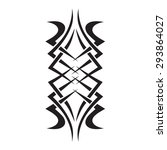 tribal tattoo vector design... | Shutterstock .eps vector #293864027