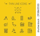 real estate thin line icon set... | Shutterstock .eps vector #293865533