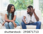 couple having argument on the... | Shutterstock . vector #293871713
