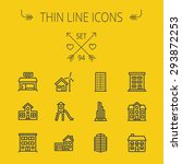 construction thin line icon set ... | Shutterstock .eps vector #293872253