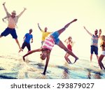 friendship freedom beach summer ... | Shutterstock . vector #293879027