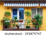 beautiful balcony flowery...