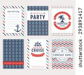 set of nautical and marine... | Shutterstock .eps vector #293891417