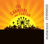the carnival funfair and... | Shutterstock .eps vector #293900033