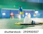 Badminton Courts With Players...