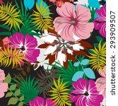 seamless  flower illustration ... | Shutterstock .eps vector #293909507