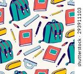 vector seamless pattern school...   Shutterstock .eps vector #293911103