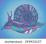 ornamental snail with a lot of... | Shutterstock .eps vector #293923157