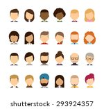 set of diverse avatars without... | Shutterstock .eps vector #293924357