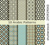 set of ten arabic patterns | Shutterstock .eps vector #293929043