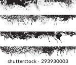 grunge edges vector set .... | Shutterstock .eps vector #293930003