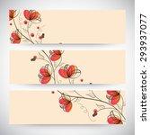 floral decorated website header ... | Shutterstock .eps vector #293937077