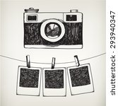vector hand drawn doodle... | Shutterstock .eps vector #293940347