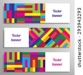 Set Of Vector Banners With...