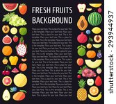 fruit vector vertical... | Shutterstock .eps vector #293944937
