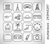 set of original travel black on ... | Shutterstock .eps vector #293945297