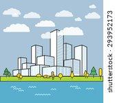 modern city district. buildings ...   Shutterstock .eps vector #293952173
