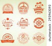 summer holidays design elements.... | Shutterstock .eps vector #293963093