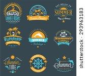 Summer Holidays Design Element...