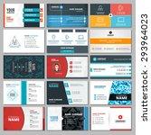set of modern creative business ... | Shutterstock .eps vector #293964023