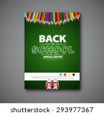back to school cover or... | Shutterstock .eps vector #293977367