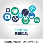 medical healthcare design ... | Shutterstock .eps vector #293995847