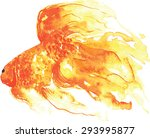 gold fish   hand  painted... | Shutterstock .eps vector #293995877