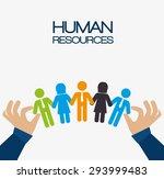 human resources design  vector... | Shutterstock .eps vector #293999483