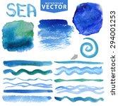 watercolor splash brushes... | Shutterstock .eps vector #294001253