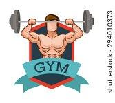 gym digital design  vector... | Shutterstock .eps vector #294010373