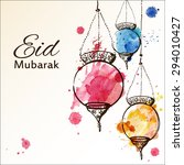 eid mubarak background. eid... | Shutterstock .eps vector #294010427
