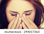 Young Woman With Sinus Pressur...