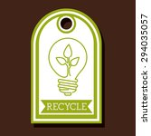 recycle  digital design  vector ... | Shutterstock .eps vector #294035057