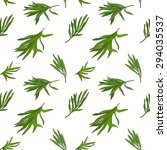 tarragon seamless pattern with ... | Shutterstock .eps vector #294035537