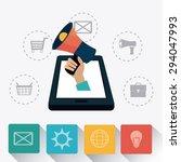 digital marketing design ... | Shutterstock .eps vector #294047993