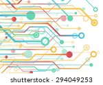 colorful circuit board.vector...   Shutterstock .eps vector #294049253