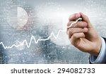 businessman hand drawing... | Shutterstock . vector #294082733