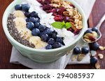 breakfast smoothie bowl with... | Shutterstock . vector #294085937
