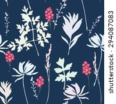 seamless floral pattern with ...   Shutterstock .eps vector #294087083