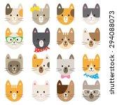 vector illustration of cats in... | Shutterstock .eps vector #294088073