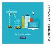 flat design vector concept... | Shutterstock .eps vector #294091337