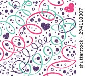seamless pattern with streamers ...