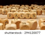 facts word written on wood block | Shutterstock . vector #294120077
