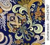 Seamless Paisley Pattern Is...